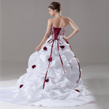 Burgundy wedding dresses