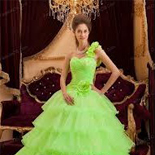 Lemon Green Quinceanera Dresses