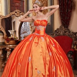 Orange Red Quinceanera Dresses