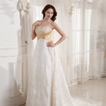 Wedding Dresses with Gold Color