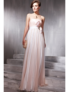 Popular Strapless Floor-length Chiffon Beading Prom / Party Dress
