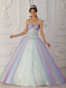 Fashionable Multi-Color Quinceranera Dress Sweetheart Taffeta and Tulle Beading and Sequins  A-Line / Princess