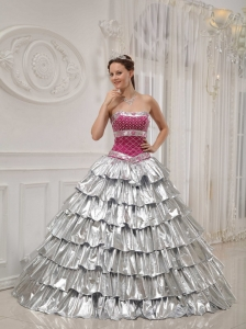 Best Popular Quinceanera Dress Strapless Satin and Taffeta Beading A-line / Princess