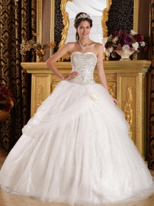 Popular Quinceanera Dress Sweetheart Organza and Sequined Ball Gown