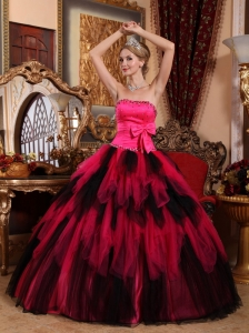 Wonderful Quinceanera Dress Strapless Floor-length Tulle Beading Ball Gown