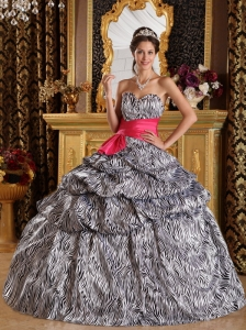 Popular Quinceanera Dress Sweetheart  Zebra Ball Gown