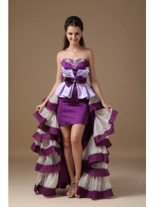 Multi-Color Sweetheart High-low Taffeta Beading Cocktail Dress