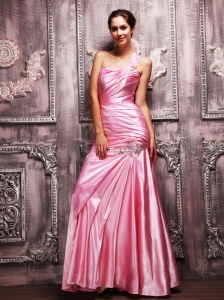 Shoulder Chiffon Dress on Rose Pink Prom Dresses   Gowns  Rose Pink Prom Dresses