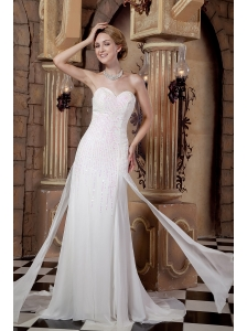 Elegant Wedding Dress Sequins Empire Sweetheart Court Train  Chiffon