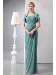 Cheap Lemon Green Sweetheart Floor-length Bridesmaid Dress Column Chiffon Sequins