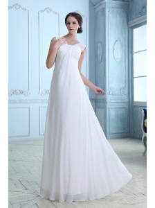 Top Seller  Empire V-neck Maternity Wedding Dress Chiffon Ruch Floor-length