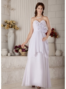New Empire Sweetheart Maternity Wedding Dress Floor-length Chiffon Beading