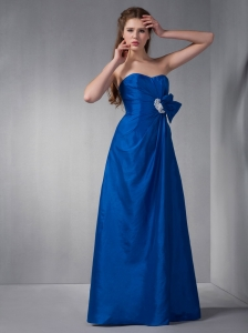 Royal Blue Taffeta Sweetheart Bridesmaid Dress with Appliques