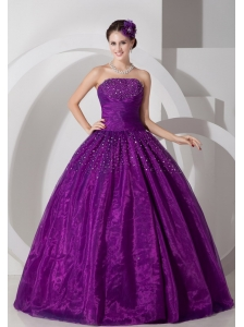 Lovely Purple A-line Sweetheart Quinceanera Dress Tulle Ruch and Beading Floor-length