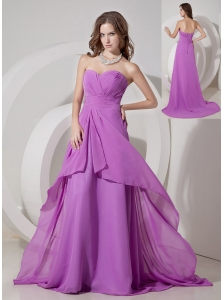 Cheap Lavender Empire Sweetheart Prom Dress Chiffon