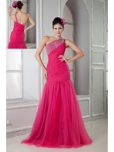 Shoulder Prom Dress on One Shoulder Purple Colorful Unique Hot Floor Length Prom Dress 30285