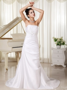 Appliques Strapless Custom Made Column Strapless Ivory Skirt For Beach Wedding Dress