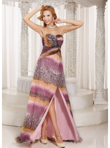 Cheap Multi-color High Slit Sweetheart Watteau Train 2013 Prom Dress Party Style