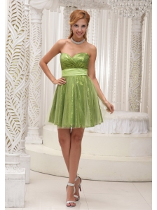 Custom Made Lovely Empire Prom / Cocktail Dress For 2013 Sequin and Tulle With Sash Sweetheart