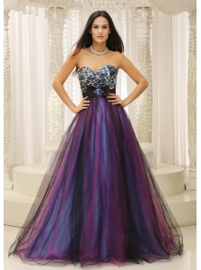 Leopard Sweetheart and Belt For Dama Dresses for Quinceanera Colorful Tulle In Texas