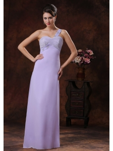 2013 Lilac Peach Springs Arizona Beaded Decorate Shoulder Prom Dress