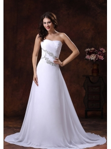 2013 The Most Popular White A-line Beaded Decorate Wedding Dress In Pearce Arizona