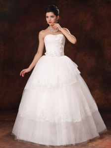Designer Ball Gown Appliques Sweetheart 2013 New Style Wedding Dress In Huntsville Alabama