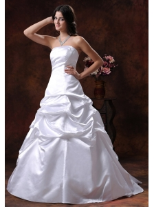 Litchfield Park Arizona Custom Made Strapless White Ball Gown Wedding Dress
