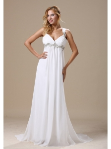 Straps Appliques In Jackson For Custom Made Beach Wedding Dress Chiffon