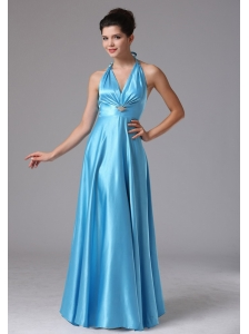 Stylish Custom Made Baby Blue Halter 2013 Prom Dress In New Britain Connecticut