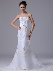 Beaded Sweetheart Mermaid Court Train 2013 Wedding Dress In Bloomfield Hills Michigan