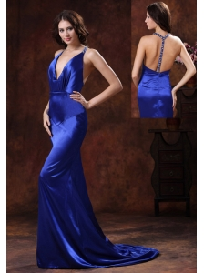 Brush Train Royal Blue Halter Mermaid Evening Dress In 2013 Bullhead City Arizona