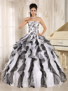 Córdoba City 2013 Multi-color Embroidery Ruffles Quinceanera Gowns With Strapless
