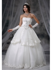 Le Mars Iowa Beaded Decorate Bodice Ball Gown Wedding Dress For 2013 Appliques With Beading