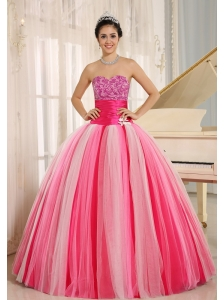 Multi-color In Riberalta 2013 New Arrival Strapless Tulle Lace-up For Quincanera Dress