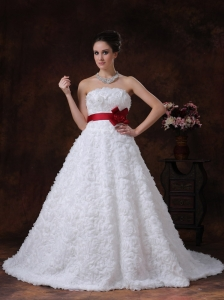 Rolling Flower Sweetheart Sashes / Ribbons Brush Exquisite A-Line Wedding Dress