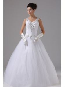 Straps In Anaheim Hills California Appliques Decorate Shoulder and Waist For 2013 Wedding Dress