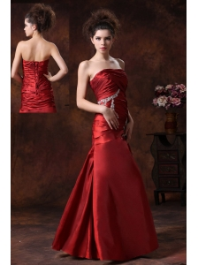 Stylish Beading Taffeta Column Fitted Floor-length Prom / Evening Dress