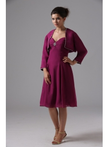 Sweetheart Burgundy Bridesmaid Dress Chiffon In Capitola California With Knee-length