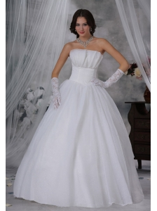 Webster City Iowa Beaded Decorate Bust Ball Gown Wedding Dress For 2013 Floor-length Strapless