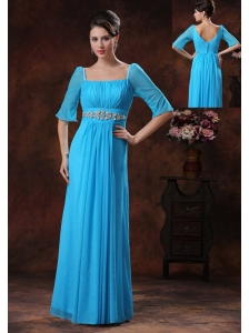 Beaded Decorate Square Sky Blue Mother Of The Bride Dress In Oro Valley Arizona
