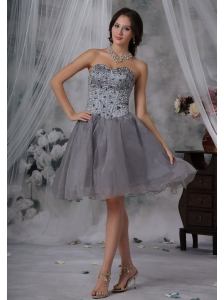 Coralville Iowa Lovely 2013 For Prom / Homecoming Dress Beaded Decorate Up Bodice Knee-length