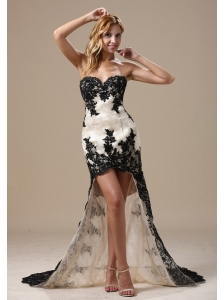 High-low Lace Over Skirt and Sweetheart For 2013 Celebrity Prom Dress In Honolulu Hawaii