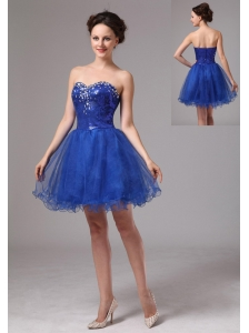 Royal Blue Sweetheart Beaded Mini-length Club Cocktail Dress In Jonesboro Georgia