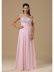 Saint Louis Sweetheart Neckline Baby Pink Chiffon Floor-length 2013 Prom Celebrity Dress