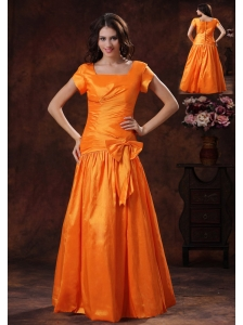 Wear A 2013 New Style Hot Orange Square Mother Of The Bride Dress Gulf Shores Alabama