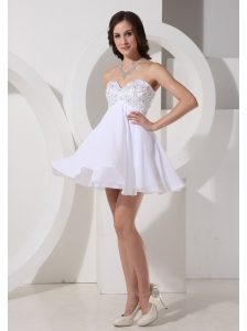 Beaded Decorate Sweetheart Neckline Chiffon Mini-length 2013 Prom / Homecoming Dress