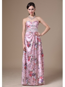 Print Beading Column Floor-length Sweetheart 2013 Prom Dress