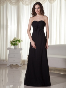 Simple Sweetheart Chiffon Empire Bridesmaid Dress Floor-length