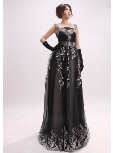 Beaded Decorate Straps and Waist For 2013 Evening Dress